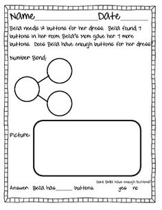 Number Bond Story Problem {Freebie}  This freebie comes from my Number Bond story problem  {packet} !...