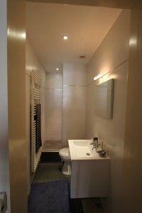 salle de bain en longueur: 1m20 de large | Projet bretagne | Pinterest