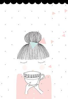 Affiche La fille au thé - fée pas ci, fée pas ça