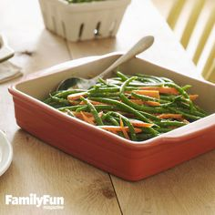 Parsley Pesto Veggies: Beans and carrots get dressed up with fresh herb flavor in this simple side dish. Using parsley yields a pesto that's milder than the basil version but equally nutty and rich.