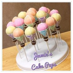 Hot Air Balloon Cake Pops por JamiesCakePops en Etsy