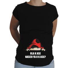 Camiseta para embarazada Divertida - Ola Ke ase, Nasco ya o k ase?