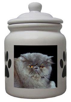 Cat Cookie Jar, Ceramic Cookie Jar, Cookie Jars, Persian, Cat Lovers, Ceramics, Cookies, Cats, Prints