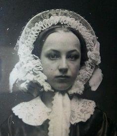Antique American Beauty Artistic Fine Daguerreotype Bonnet Girl Boy Photo | eBay