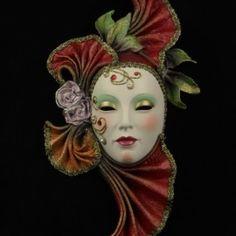 CARNEVALE per Adulti Rosso o #pink Occhio Maschere sul bastone con Piume Costume