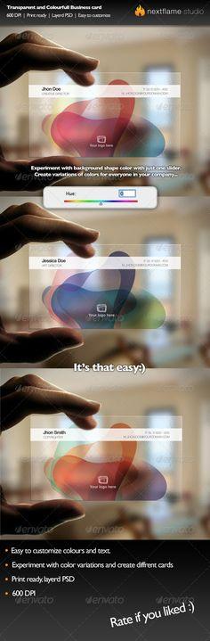 Transparent and Colorful Business Card http://www.bce-online.com/en