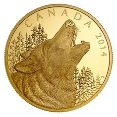 1/2 Kilogram Pure Gold Coin - Howling Wolf - Mintage: 25 (2014)