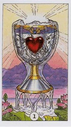 Robin Wood Tarot: Ace of Cups