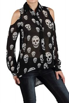 what plus size retailer makes a skull chiffon top? need one STAT