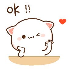 LINE Official Stickers - Mochi Mochi Peach Cat Sound Stickers Example with GIF Animation