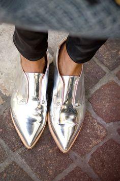 metalic. Tin man shoes