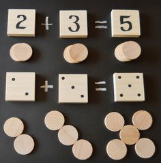 Math Game Math Set Waldorf Inspired Numbers Math by 2HeartsDesire, $20.00