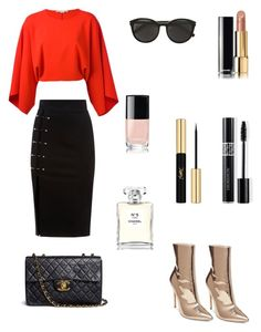 """""""Gold boots 3 ways #1"""" by raquel-c-macias on Polyvore featuring Steve Madden, STELLA McCARTNEY, Chanel, Yves Saint Laurent and Christian Dior"""