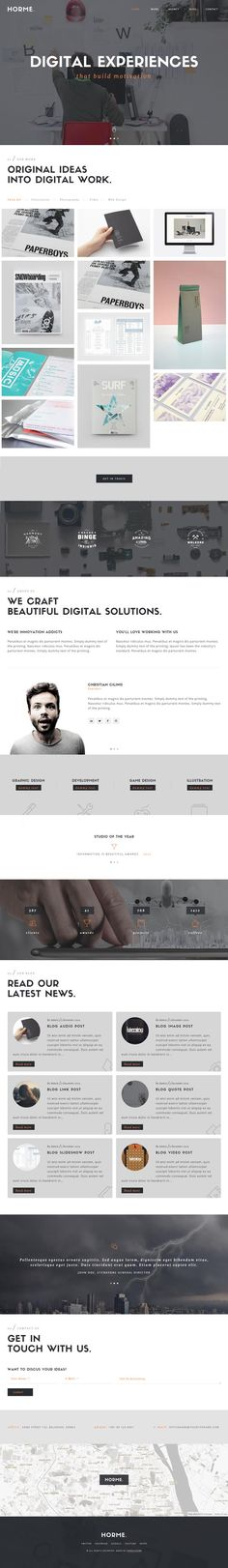 Horme : Clean One Page WordPress Theme