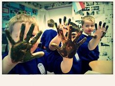 mud paint #abcdoes #eyfs #engagingboys