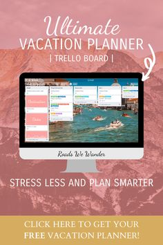 This FREE vacation planning template for Trello will take all of the stress out of planning your next trip. It will actually make planning your trip way easier! And, it's completely free! Get it now! #RoadsWeWander Vacation Planner, Travel Planner, Vacation Trips, Disney World Planning, Disney World Vacation, Travel Advice, Travel Tips, Trello Templates, Free Vacations