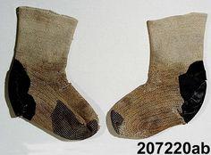 Nalbound socks, Långvin, Sweden. Taken to museum collections in 1936.