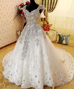 NEW White Ivory Wedding Dress Bridal Gown Custom Size 4 6 8 10 12 14 16 18 20 | eBay