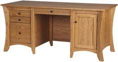 Kyoto Executive Desk in Honey Oak from Erik Organic