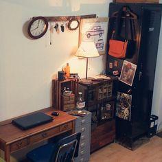 「賃貸」 「古いもの」 「アンティーク」 「一人暮らし」 「IKEA」 「メンズ部屋」...etcが写っているsoraninさんのインテリア実例写真を紹介します。2013-12-16 11:26:41に撮影されました。