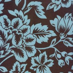 Drapery Upholstery Outdoor Fabric Blue & Brown Floral on eBay!