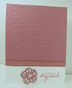 Personally Yours: Stampin' Up! Petal Burst Embossing Folder
