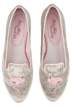 Flamingo slippers, £185, Mrs Alice for French Sole