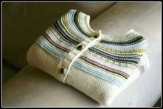 Ravelry: Playful Stripes Cardigan pattern by Alana Dakos - don't think I'll ever get over the cuteness of this!