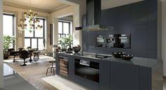 In samenwerking met Miele Nederland hebben we deze keuken ontworpen. De zwarte keuken is greeploos en voorzien van inbouwapparatuur van Miele. De zwarte kleur geeft de keuken een luxe en exclusief karakter. Gaaf toch?