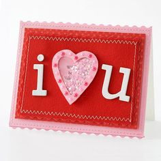 I Heart You Card    --        Repurpose plastic packaging on a cute-as-can-be shaker card with a hidden message.