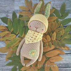 RABBIT crochet pattern от littleowletshop на Etsy