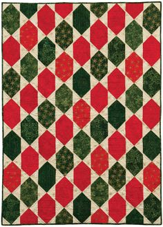 FREE PATTERN » Tonga Joy #batiks - Ornaments quilt by Osie Lebowitz #christmas #holiday