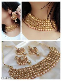 Checkout this latest Jewellery Set Product Name: *Women's Gold Plated Jewellery Set* Country of Origin: India Easy Returns Available In Case Of Any Issue   Catalog Rating: ★4.4 (1061)  Catalog Name: Women's Gold Plated Jewellery Set CatalogID_207569 C77-SC1093 Code: 543-1597484-948