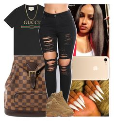 Untitled #1437 by msixo on Polyvore featuring polyvore fashion style Louis Vuitton Gucci NIKE clothing