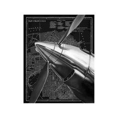 Vintage Plane II Unframed Wall Canvas Art - (24X30),