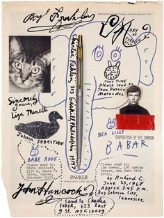 mail art by ray johnson