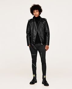 Image 1 of TROUSERS WITH ZIPS from Zara
