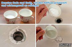 Abflussreiniger aus Soda und Essig - preiswert und wirkungsvoll