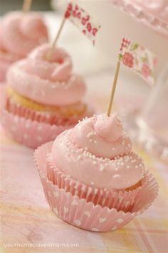 Pink Lemonade Cupcakes! Adapted from Paula Deen.    Tried it - best pink lemonade cupcakes I've tried!