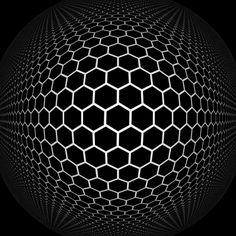 "beesandbombs: "" honeycomb globe """