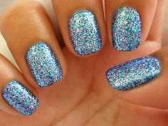 Nice Blue Acrylic Nails Designs