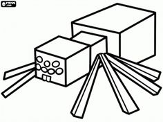minecraft coloring kids spider coloring pages printable and coloring book to print for free. Find more coloring pages online for kids and adults of minecraft coloring kids spider coloring pages to print. Coloring Pages For Boys, Coloring Pages To Print, Free Printable Coloring Pages, Colouring Pages, Free Coloring, Coloring Books, Colouring Sheets, Kids Coloring, Spider Coloring Page