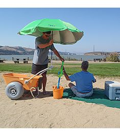 The Wheeleez Beach Cart can haul heavy gear, gravel, dirt, or anything you want to roll over sand or other challenging terrain. The low-pressure balloon wheels make it easy to roll over anything. Beach Tops, Beach Fun, Beach Cart, Beach Shade, Beach Hacks, Beach Essentials, Swim Shop, Beach Umbrella, Summer Sun
