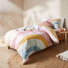 Callie Quilt Cover Set | Target Australia Bed For Girls Room, Big Girl Bedrooms, Little Girl Rooms, Kids Room, Rainbow Bedding, Rainbow Bedroom, Rainbow Room Kids, Target Bedding, Alondra