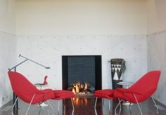 A modern #fireside seating area designed by #FoursquareBuilders #luxeAustin | See MORE at www.luxesource.com | #luxemag | #interiordesign #design #interiors #decor