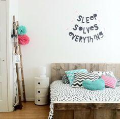 #Wordbanner #tip: Sleep solves everything - Foto @travelbugje - Buy it at www.vanmariel.nl - € 11,95