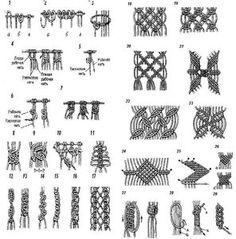 53 fantastiche immagini su Macrame: tecniche, nodi