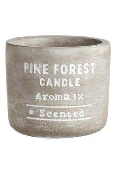 Tuoksukynttilä betoniastiassa - Antrasiitinharmaa/Pine forest - Home All   H&M FI 1