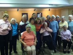 The 80+ group at Byron Park love to shake & shimmy with the best of 'em.
