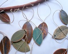 Stoneware Ceramic Leaf Chimes Mobile. $45.00, via Etsy.